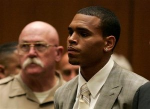 Chris Brown in Court