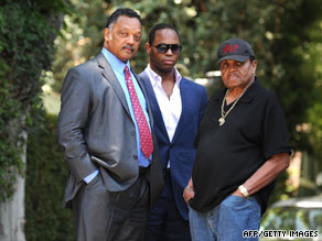 Jesse Jackson and Joe Jackson and Unknown