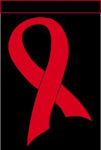 AIDS Ribbon Red and Black